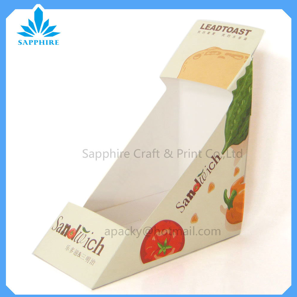 Sandwich Paper Box with Open Window, Food Package Paper Boxes, Take out Paper Cardboard Boxes