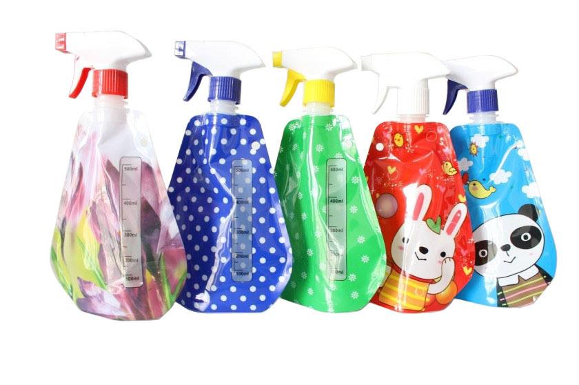 Foldable Trigger Bottle Sprayer Plastic for Home and Garden