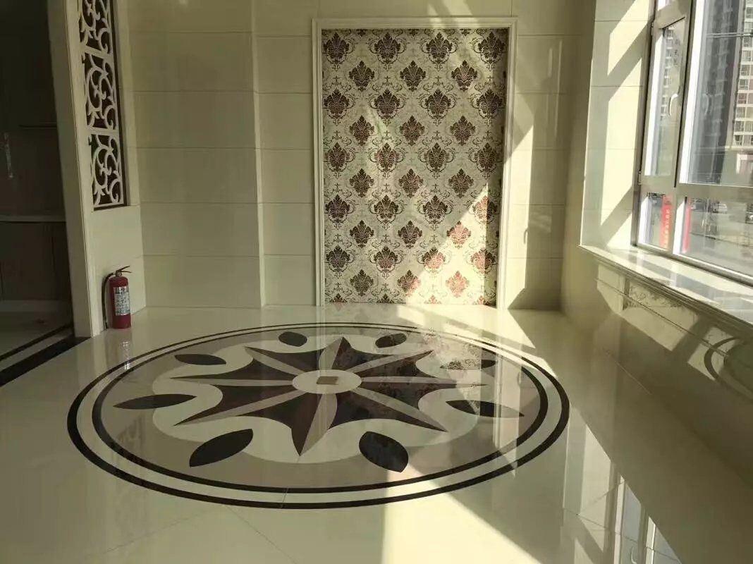 Home Decoration Water-Jet Floor Tile Nano Glass Stone Panel