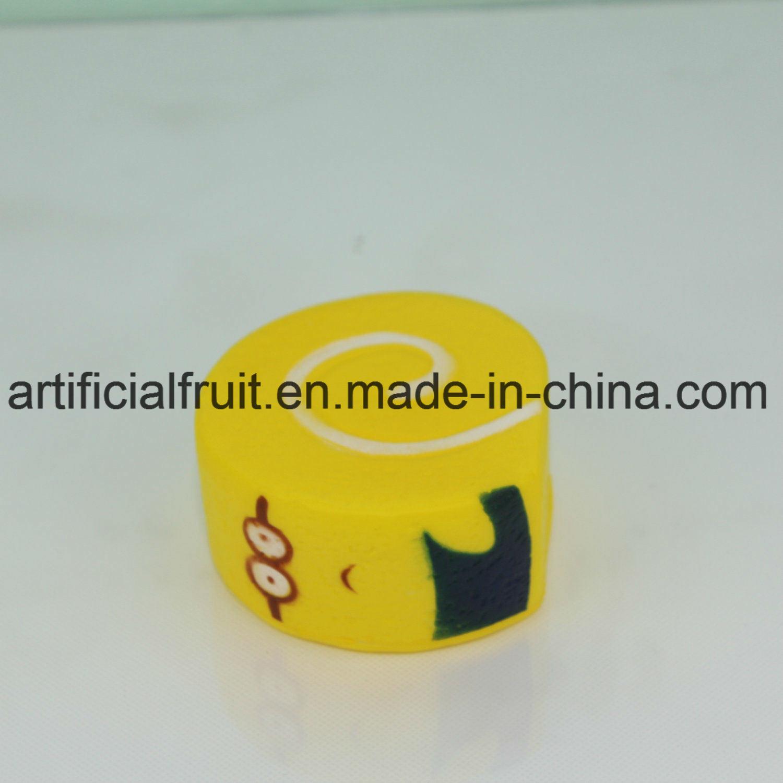 Slow Rebound PU Cake Yellow Foam Toys