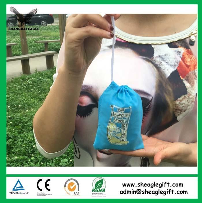 Reusable Nylon Polyester Folding Shopping Bag Tote Bag