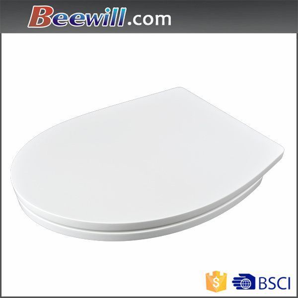 Thermoset White Sanitary Toilet Seat with Soft Close Hinge