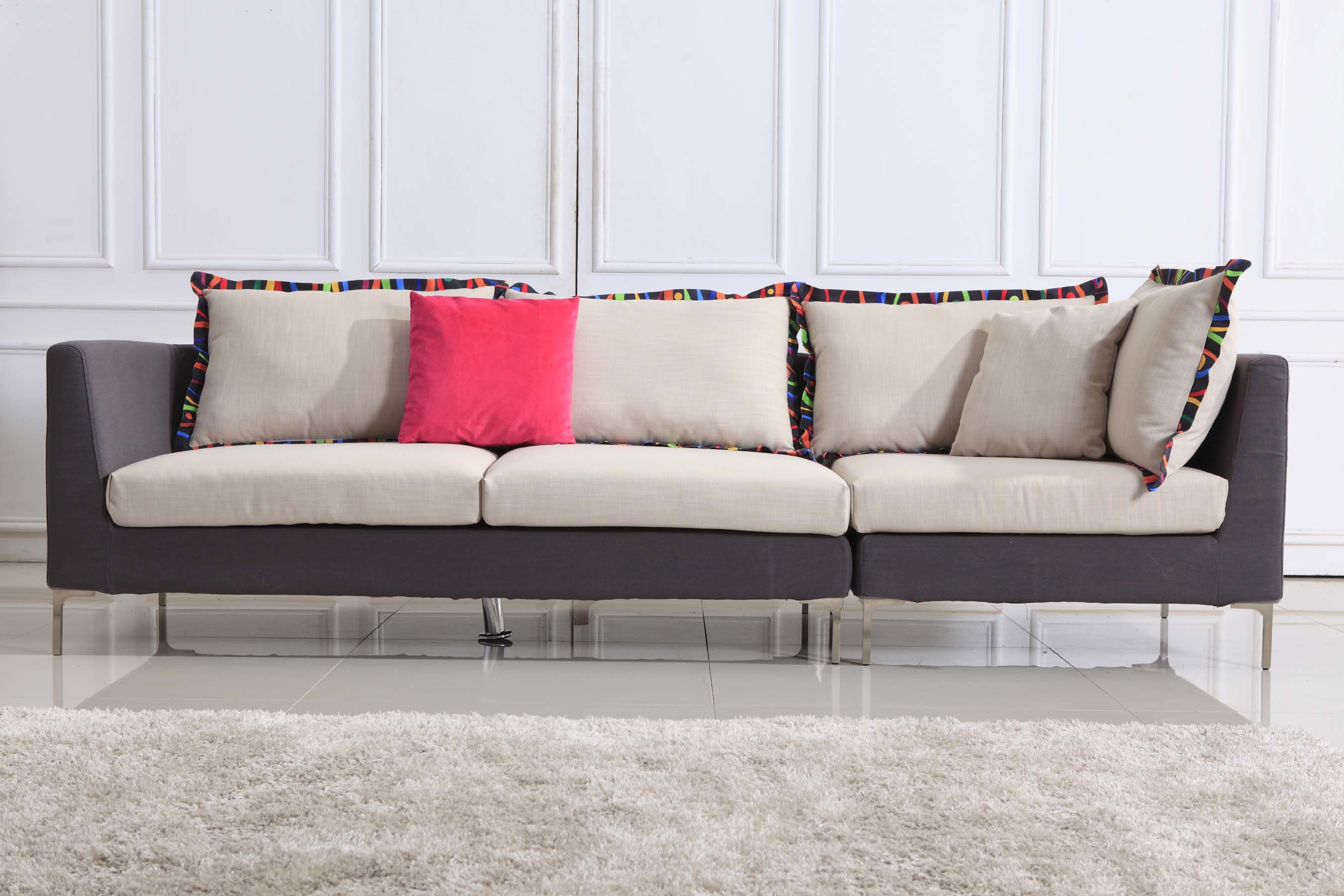 Modern Fabric Sofa (LS4A188)
