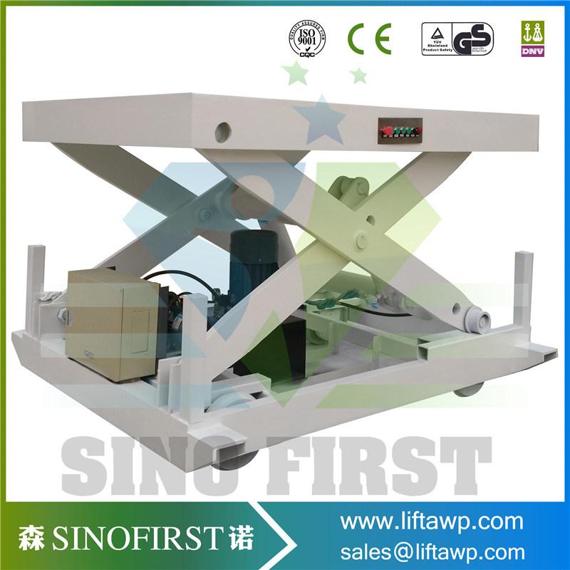 Small Hydraulic Fixed in Ground Economy Scissor Lift