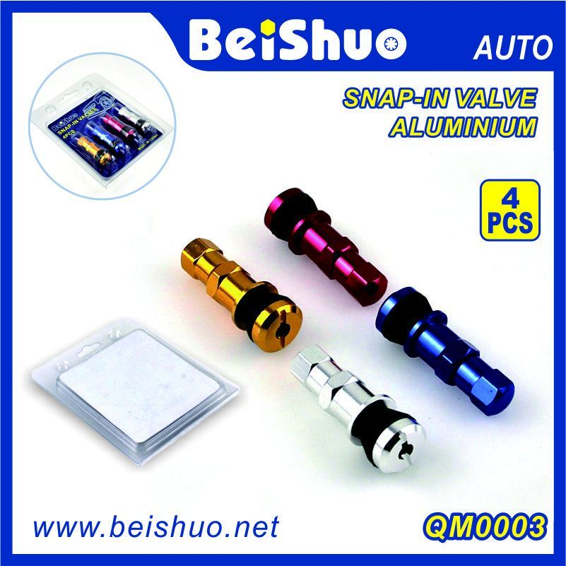 4 Color Aaluminium Snap-in Tubeless Valve for Car