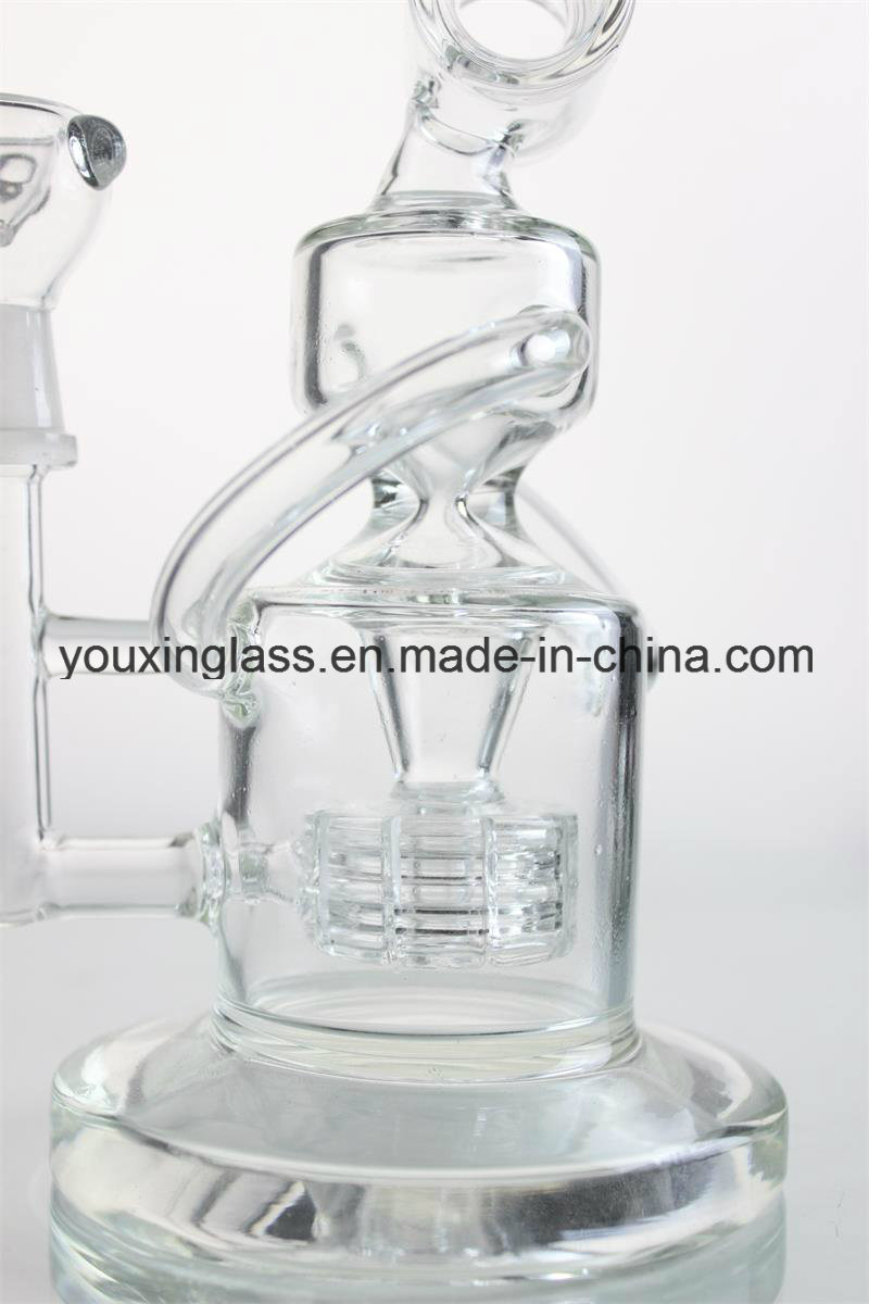 Glass Smoking Pipe Glass Pipe Glass Water Pipe with Tyre Recycler and Perfect Percolator