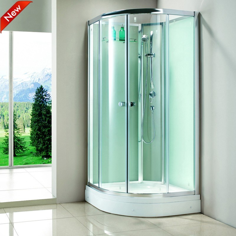 China high quality acrylic tray tempered glass shower for Waterproof bathroom cabinets
