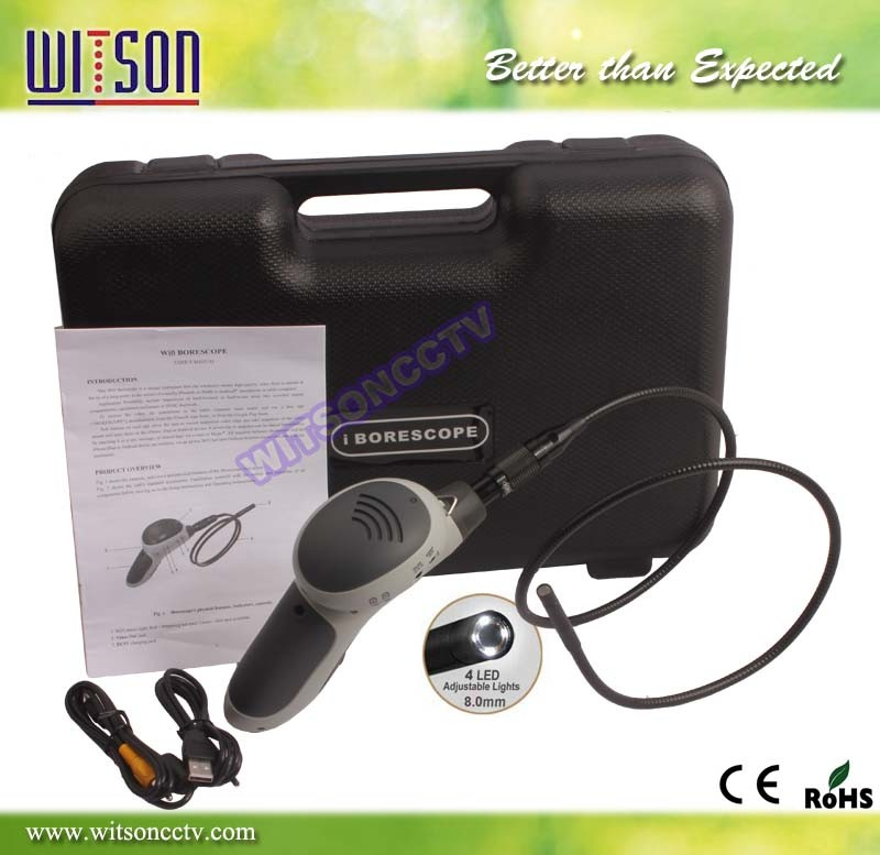 Witson Wireless Snake Scope Camera Endoscope Handheld Borescope WiFi Connect on iPhone iPad Android (W3-CMP3813WX)