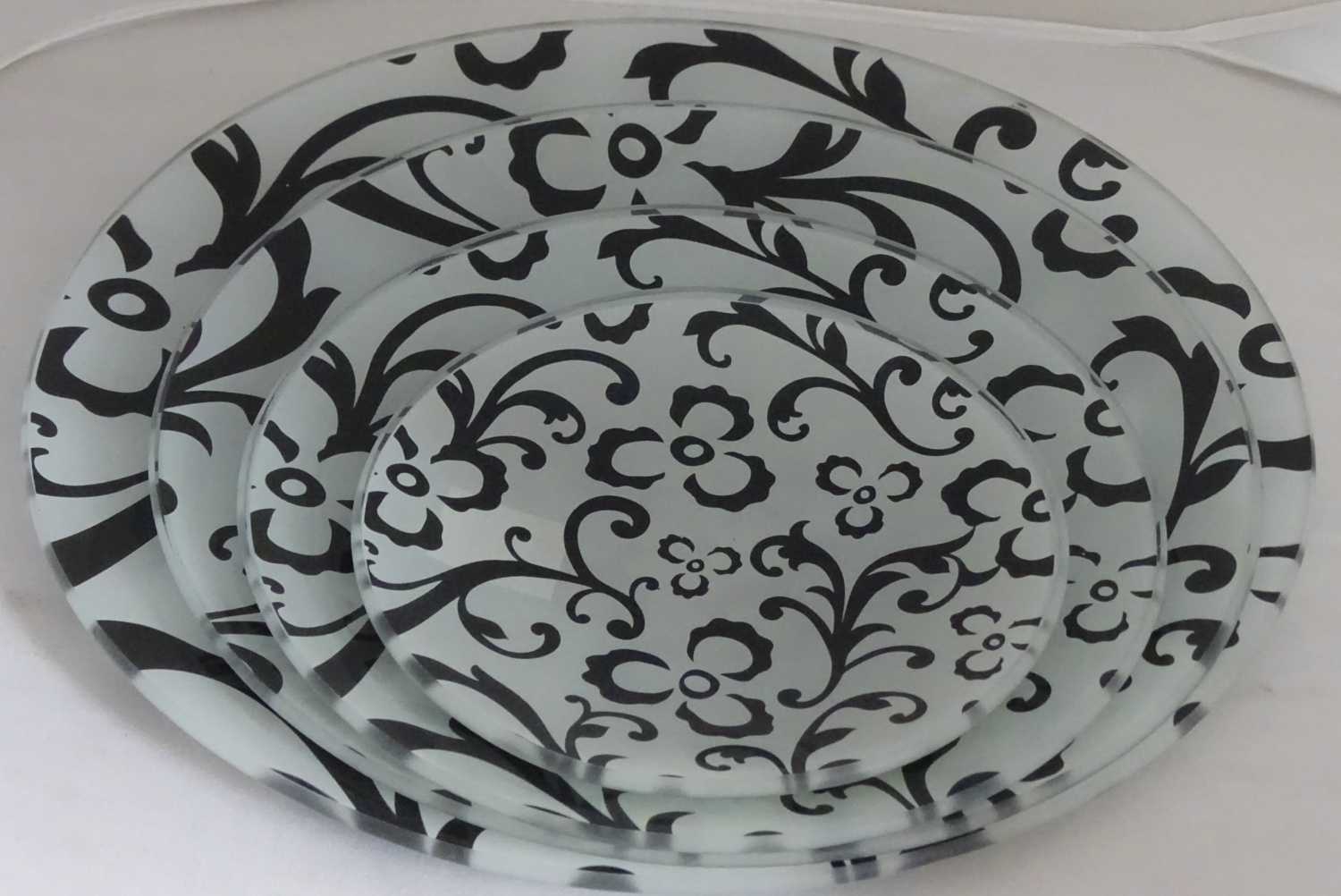 Seving Dinner Decorative Tempered Glass Plate