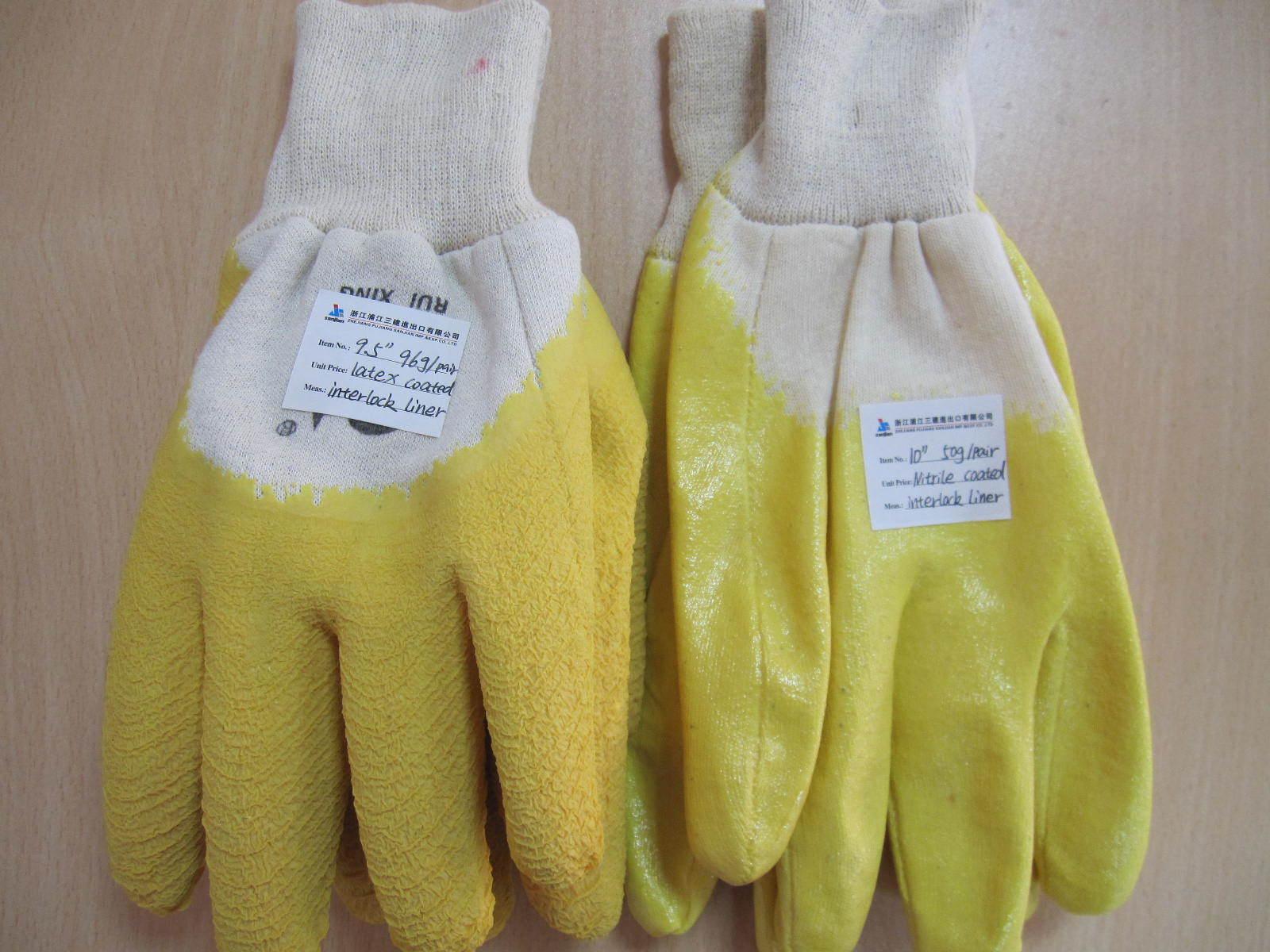 Nitrile Work Glove with Interlock Liner