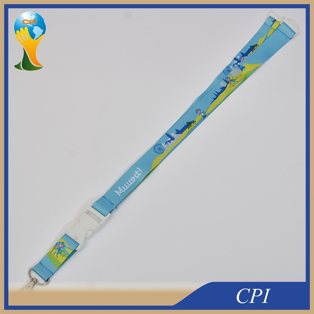 Cartoon Logo Dye Sublimation Printing Lanyard for Promotion Gift