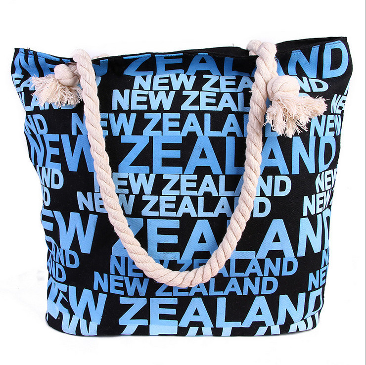 The New High-Quality Canvas Bag Hand-Held Large Bag Trend of Female Bag Beach Bags