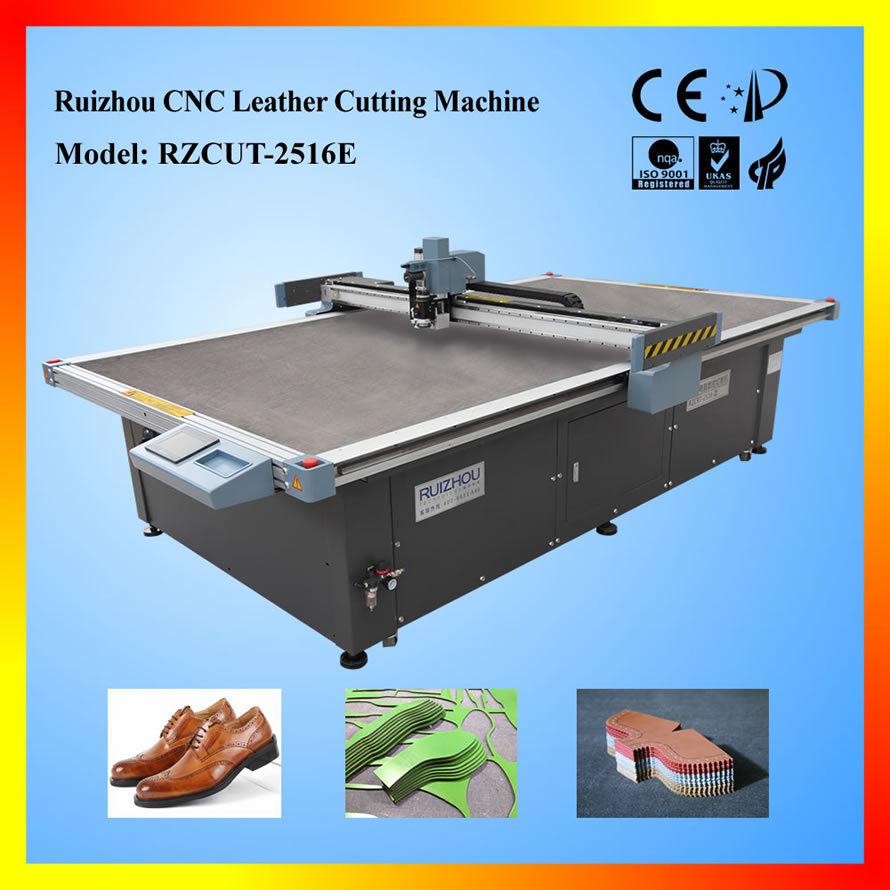Ruizhou CNC Leather Cutting Machine for Shoemaking Rzcut-2516