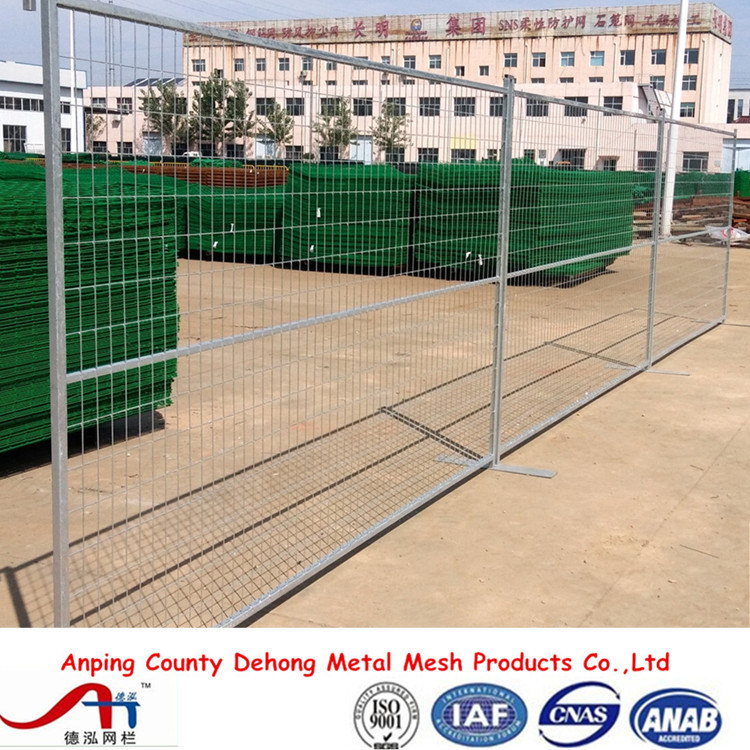 6ftx8FT Galvanized Canada Welded Wire Mesh Temporary Fence Panel