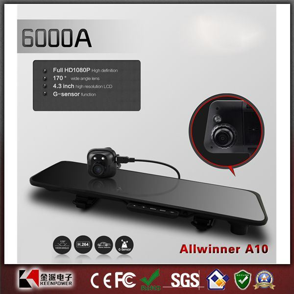 Car Rearview Mirror DVR Recorder1080p Car Dvrs Dual Lens TFT