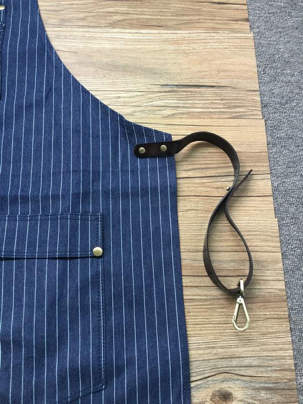 Custom High Quality Stripe Denim Barber Apron Wholesale