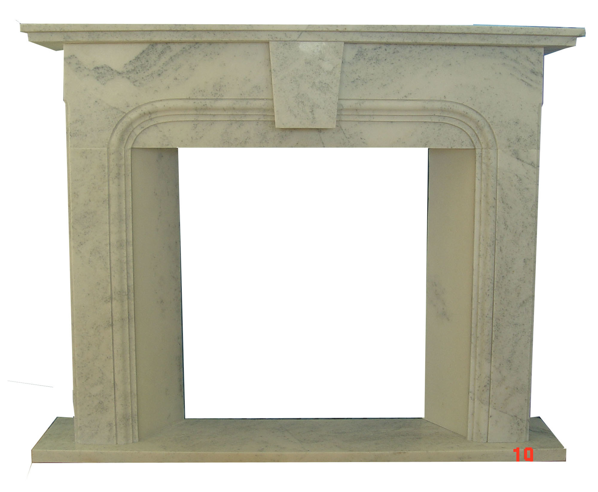 Fireplace White Marble Simple Design (9022)