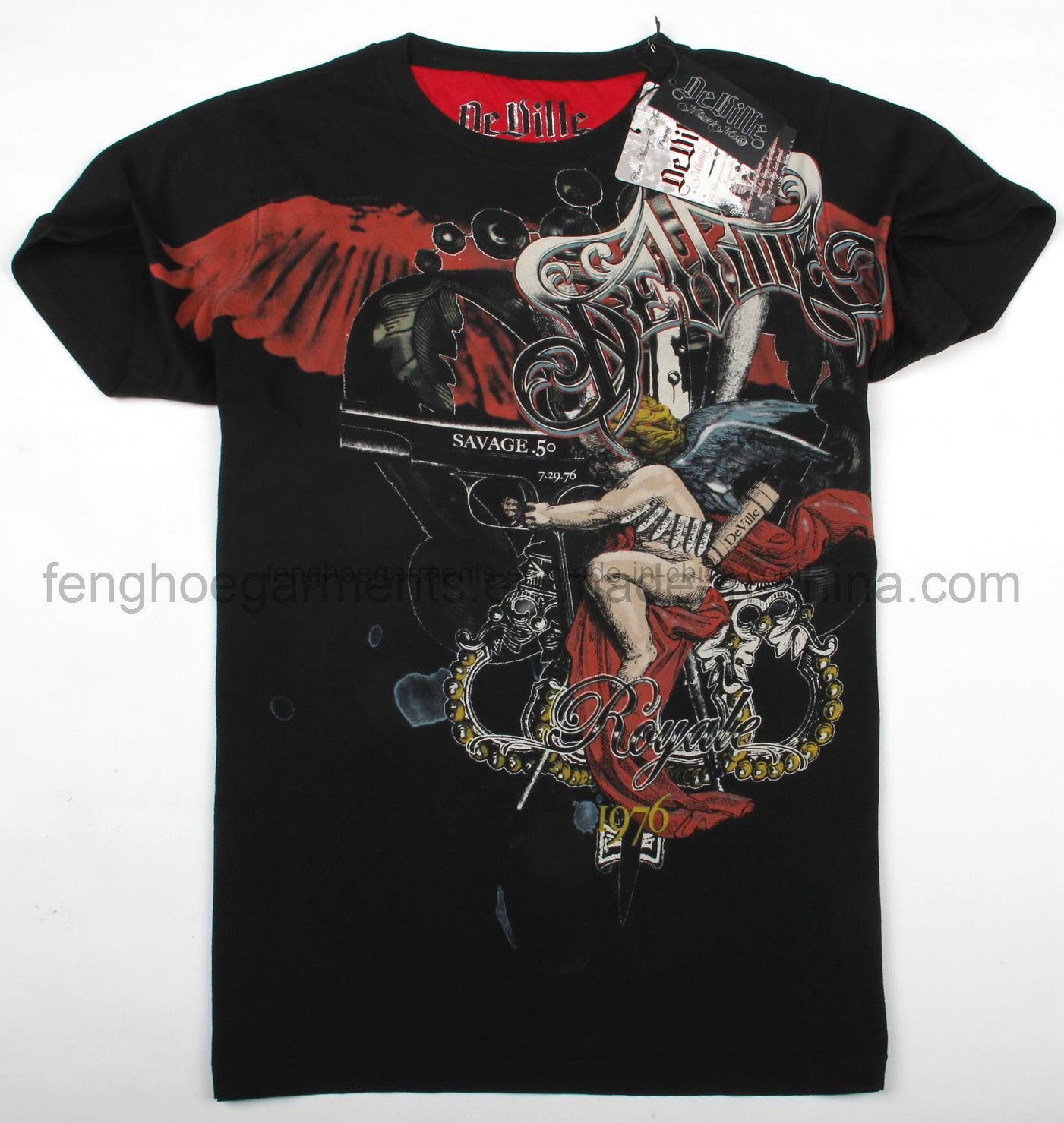 China printed t shirt custom t shirt brand t shirt for Designer t shirts brands
