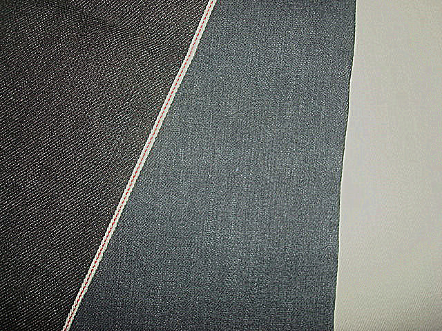 Selvage Cotton Slub Denim Twill Fabric