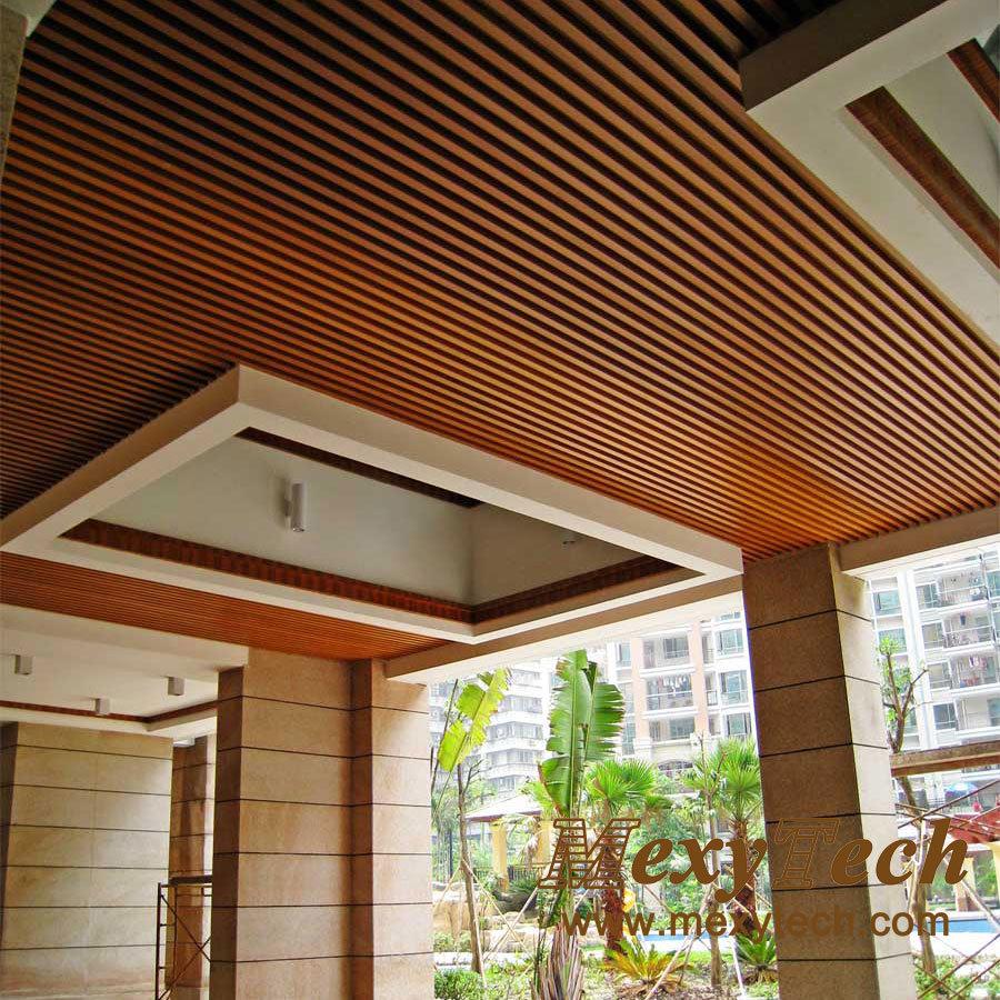 Composite Panel Ceiling : China artistic ceiling material wood plastic composite
