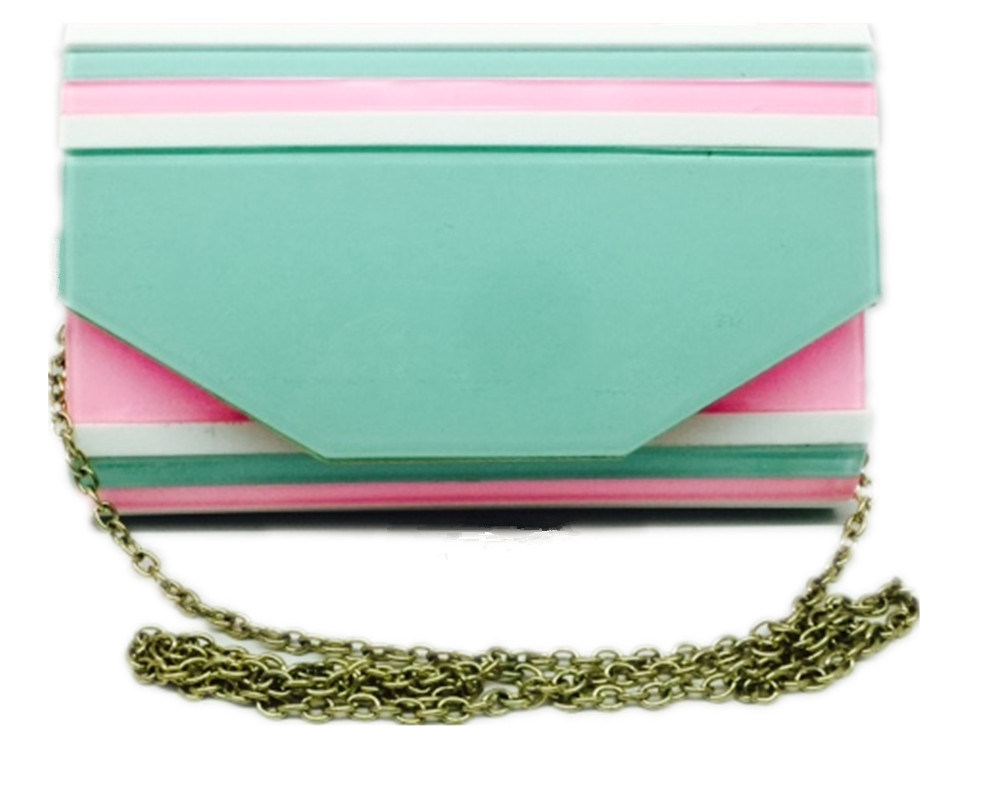 Many Color Acrylic Clutch Bag