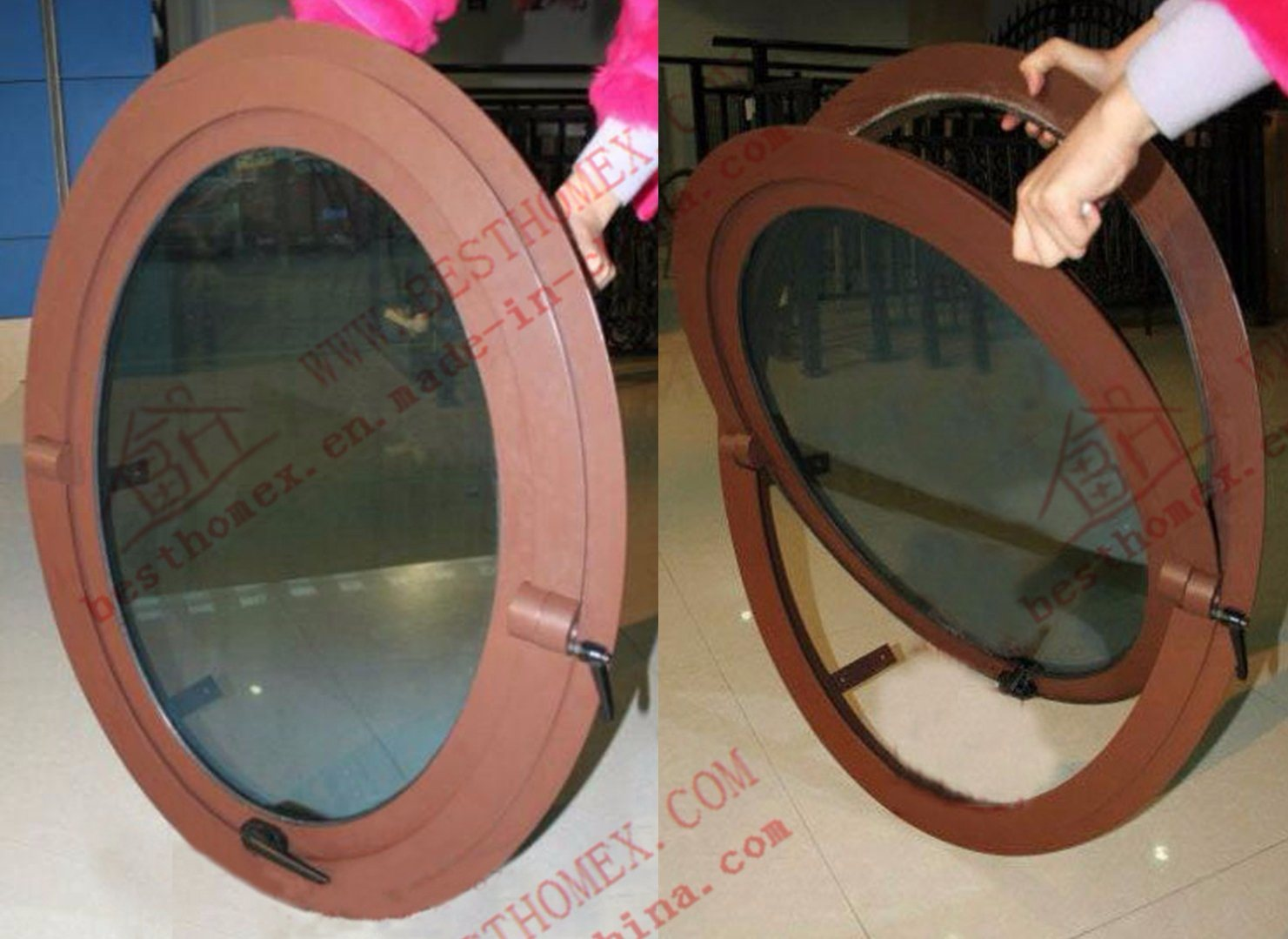Unique Design of Aluminum Round Window (BHA-CWA35)