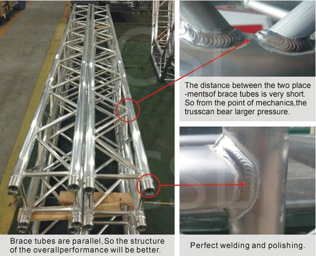 TUV Certificate Global Truss / Wedding Truss / Ridge Tent / Aluminum Truss