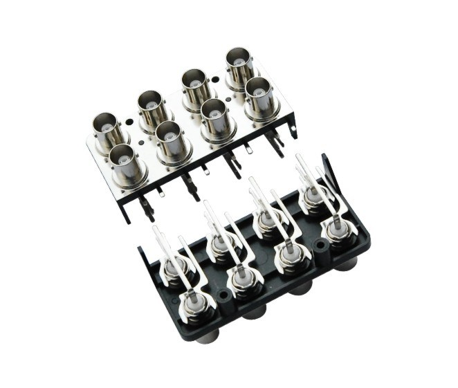 Eight in Two Rows 8ports Degree90/180 Female BNC Connector