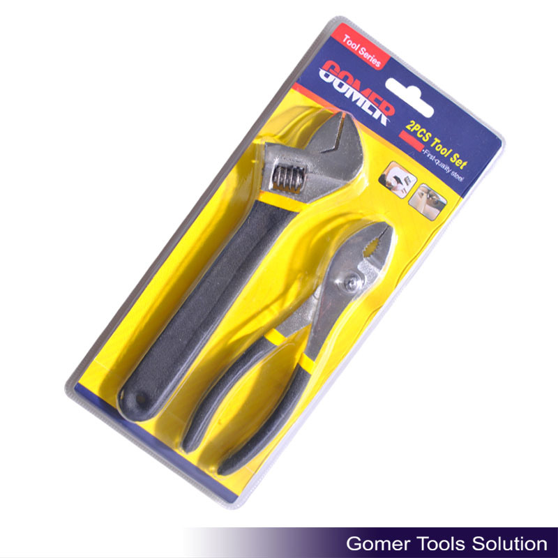 Adjustable Wrench & Slip Joint Plier for Hardware Tool (T01336)