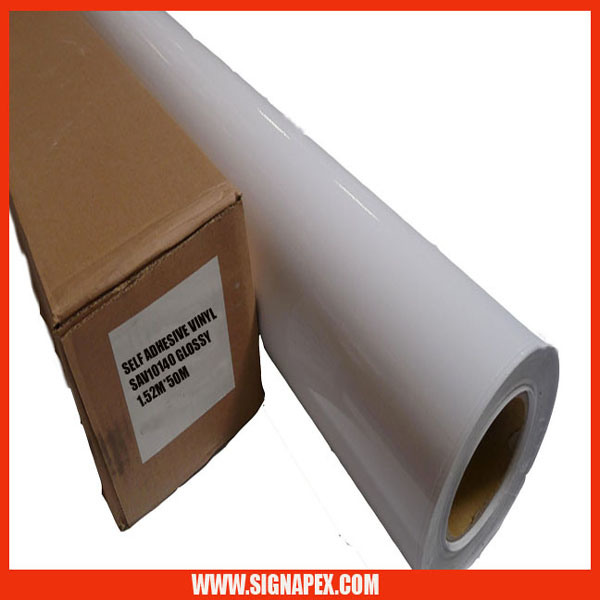 High Quality Polymeric Self Adhesive Vinyl for Large Format Digital Printing/5 Years Valid (SAVPV740W)