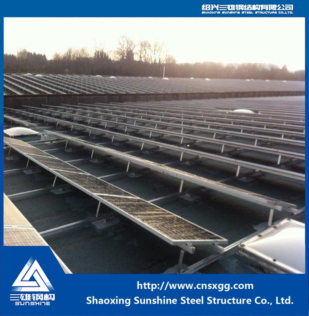 Solar Panel Roof Mounting Galvanized Steel Structure Bracket with Steel Beam