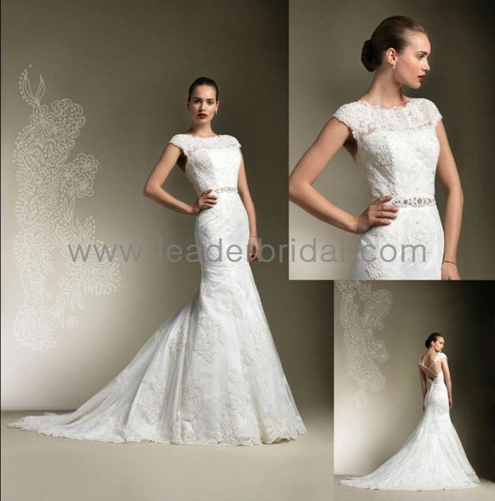 China Cap Sleeve Lace Mermaid Backless Bridal Wedding Gown H15228 Photos Amp Pictures