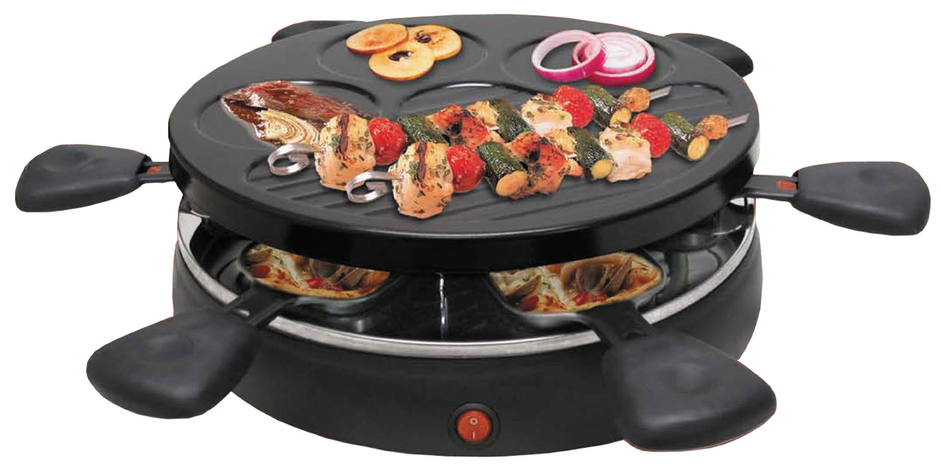 China Electric 6 Person Raclette Grill 6 Person Classic