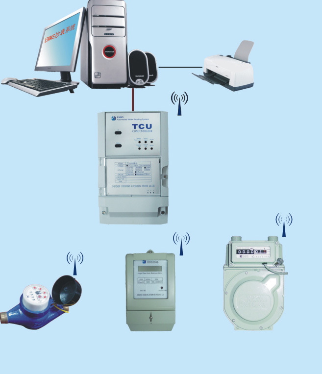 Automatic Meter Reading : China automatic meter reading system amr of wireless