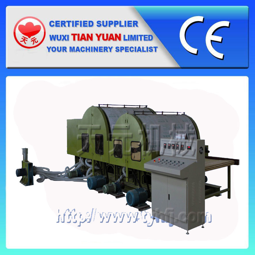 High Output Double Cylinder Double Doffer Nonwoven Carding Machine (HFJ-18)