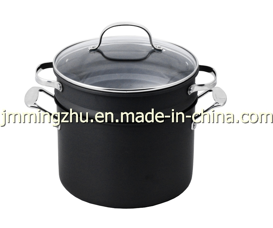 Cookware-Aluminum Pasta Pot With Insert (66-3)