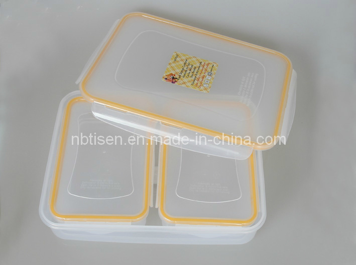 Transparent Plastic Lunch Box/Food Storage Container (TS-W4)