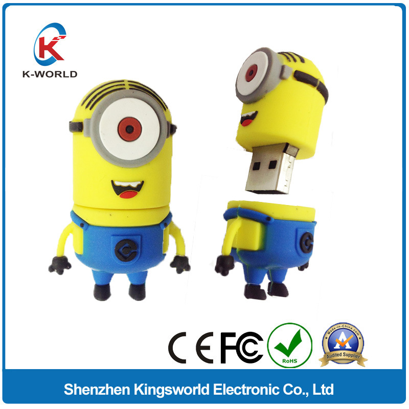 Minions PVC Cartoon 16GB USB Flash Memory