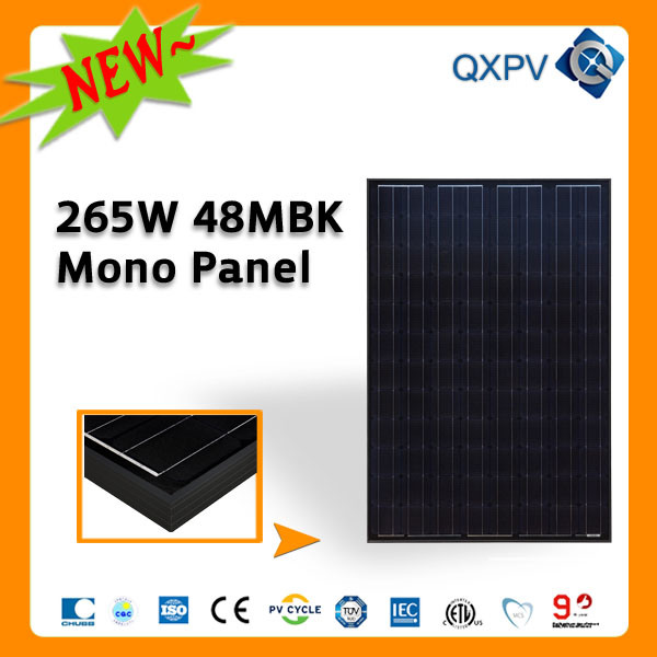 48V 265W Black Mono Solar Panel