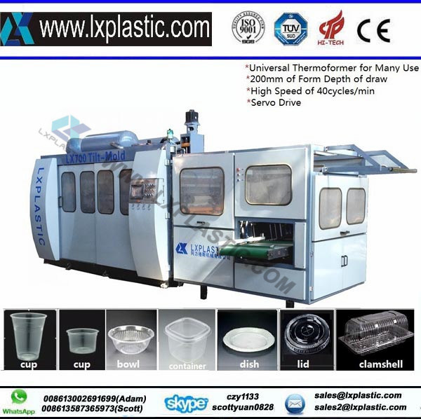 Tilt-Mold Thermoforming Machine for Disposable Cup