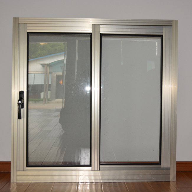 Dark Handle with Key Anodized Aluminum Alloy Aluminum Sliding Window/Aluminium Window K01002