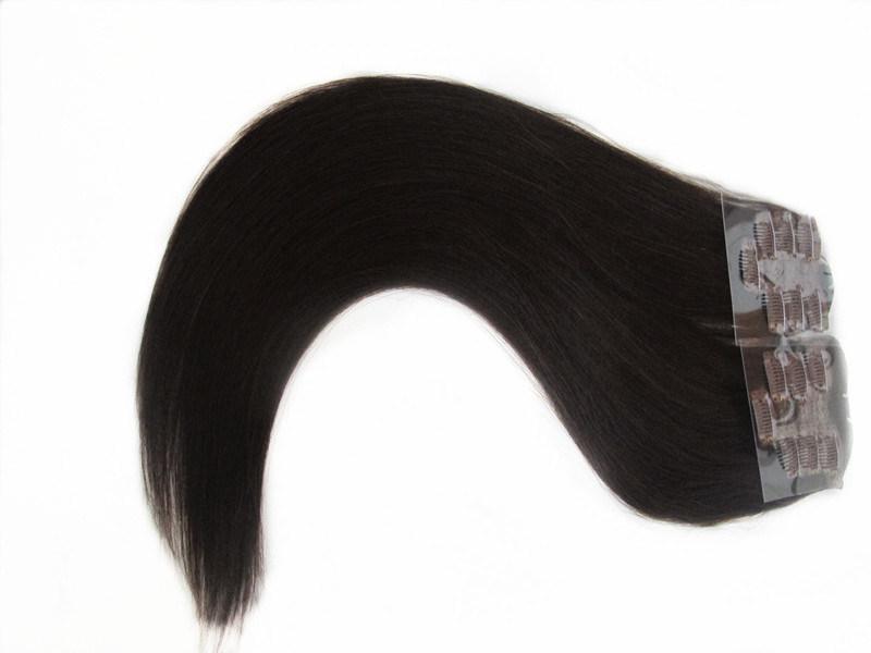 Full Head 100% Human Hair Clip in Hair Extensions 18inches