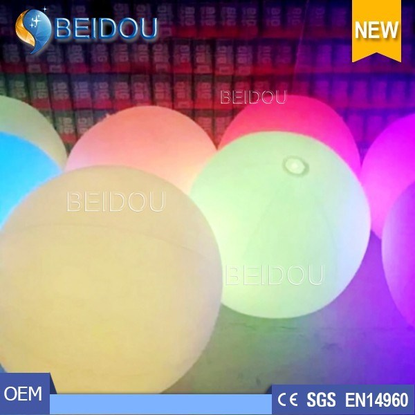 LED Lighted Touchable Advertising Crowded Balloons Inflatable Zygote Interactive Balls