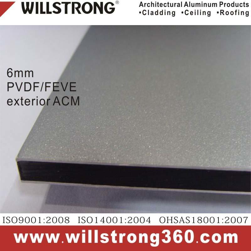 6mm Exterior PVDF or Feve Aluminum Composite Material Acm