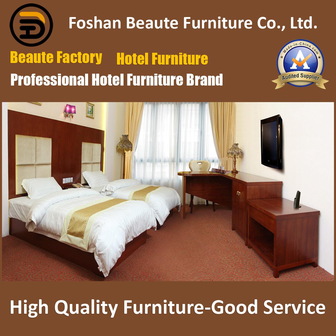 Hotel Furniture/Luxury Double Bedroom Furniture/Standard Hotel Double Bedroom Suite/Double Hospitality Guest Room Furniture (GLB-0109862)
