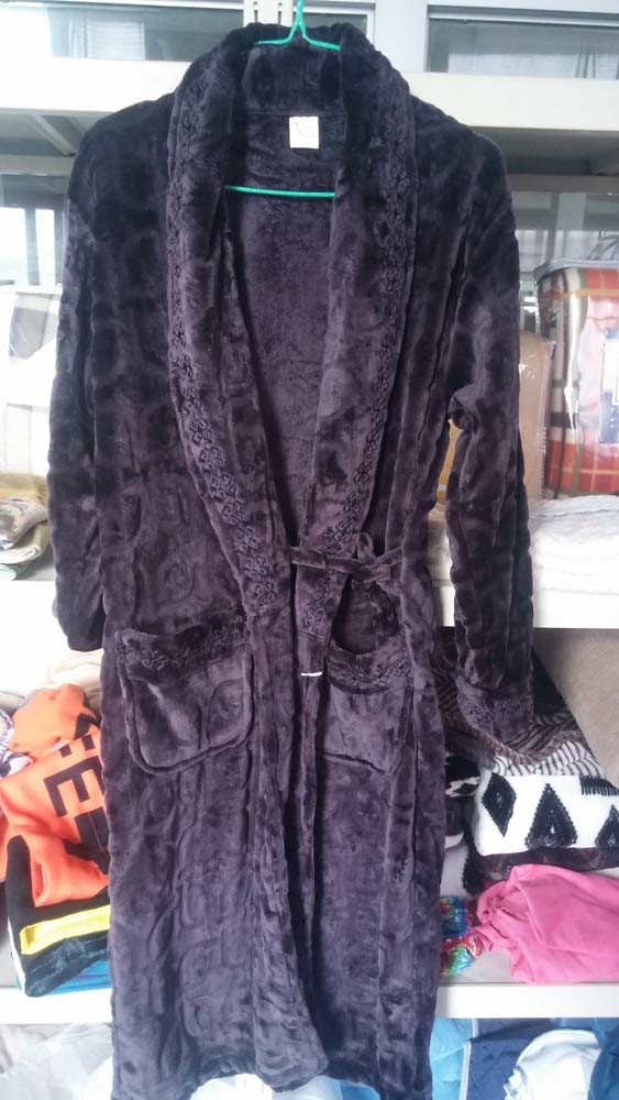 Super Soft Embroidered Coral Fleece Pajamas for Man / Bathrobe