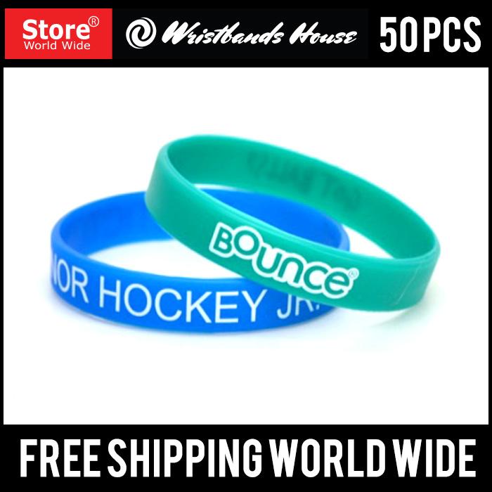 Screen Printed Custom Silicone Wristbands