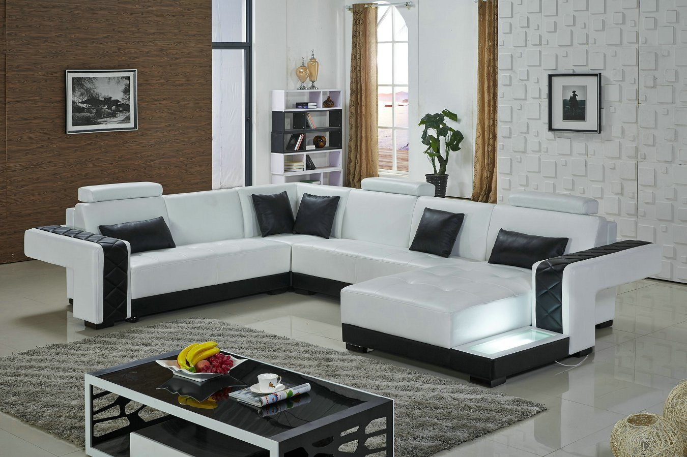 Modern Style Leather Sofa, Famous Leather Sofa Set