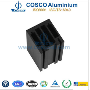 Powder Coating Aluminum Extrusion for Building Material with CNC Machining