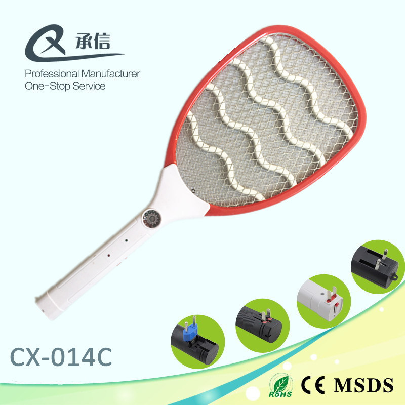 Withe Handle Fly-Swatter with LED Light